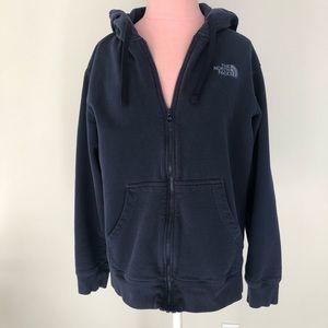 Men's North Face Full Zip Sweatshirt, Blue